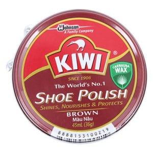 Xi đánh giày kiwi nâu
