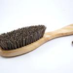 bàn chải đánh giày lông ngựa cán gỗ tự nhiên 2