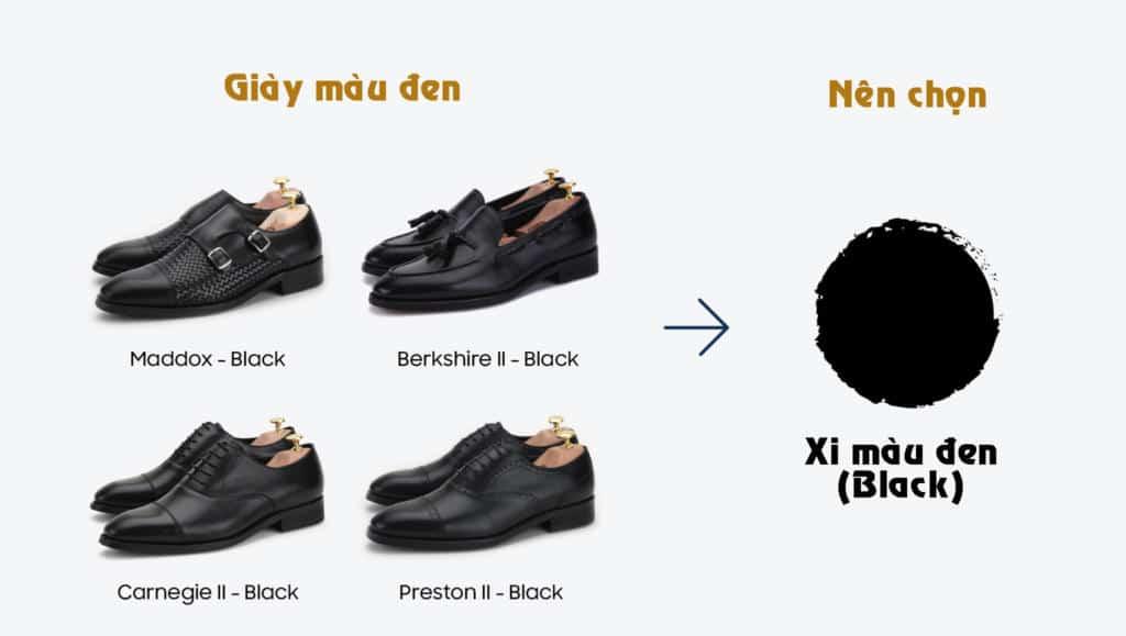 Cách chọn xi đánh giày đúng màu